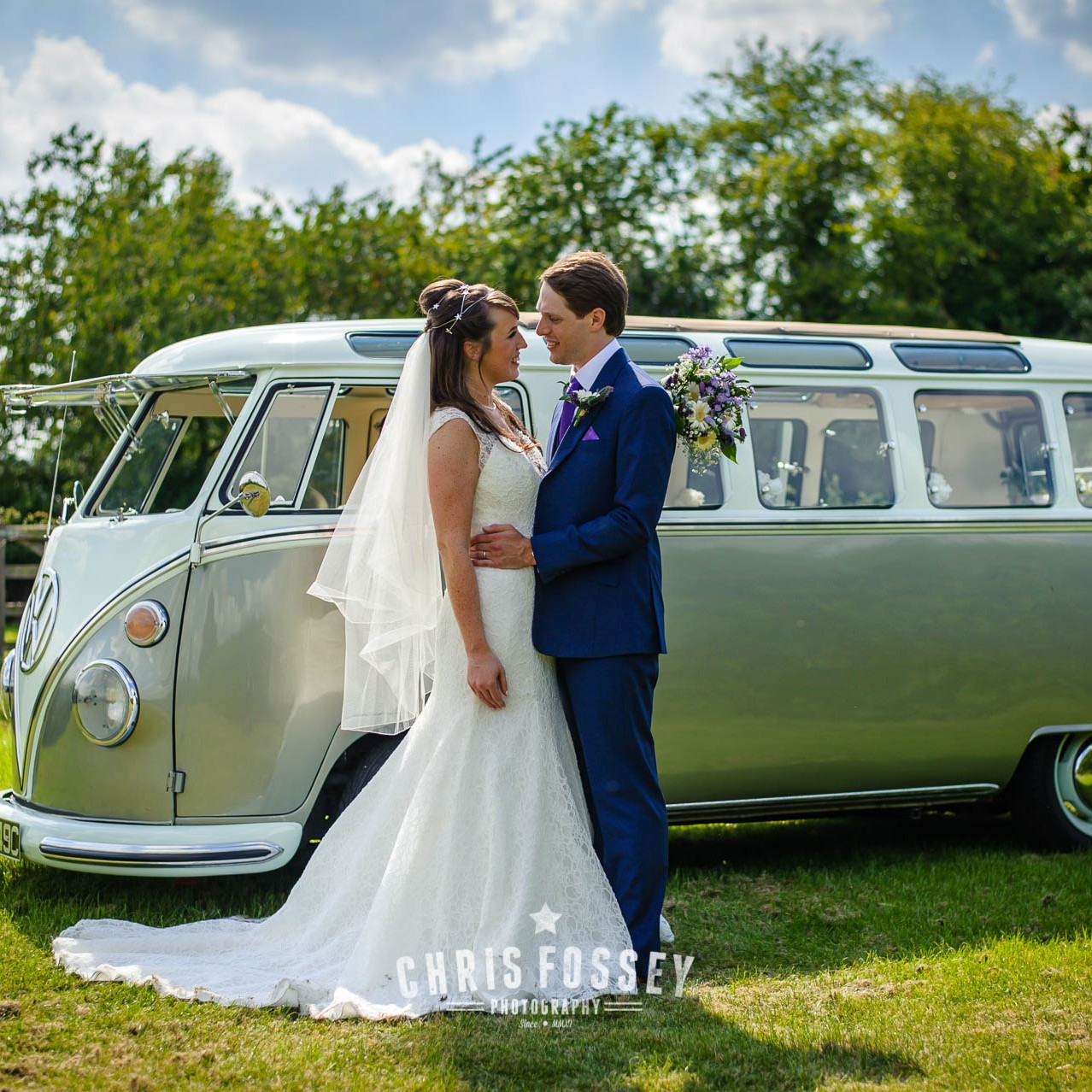 Warwickshire Wedding Photography Portfolio-Solihull Wedding Photography with VW Camper Van by Chris Fossey Photography-28